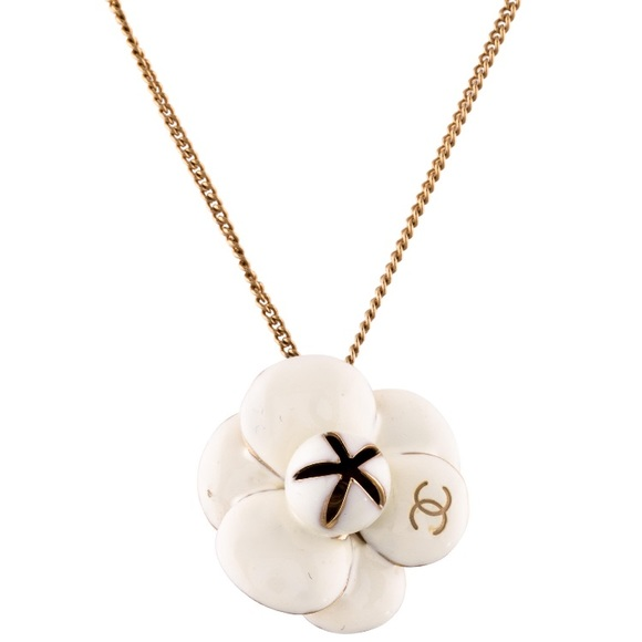 19 off chanel jewelry chanel enamel camellia pendant necklace chanel enamel camellia pendant necklace mozeypictures Image collections